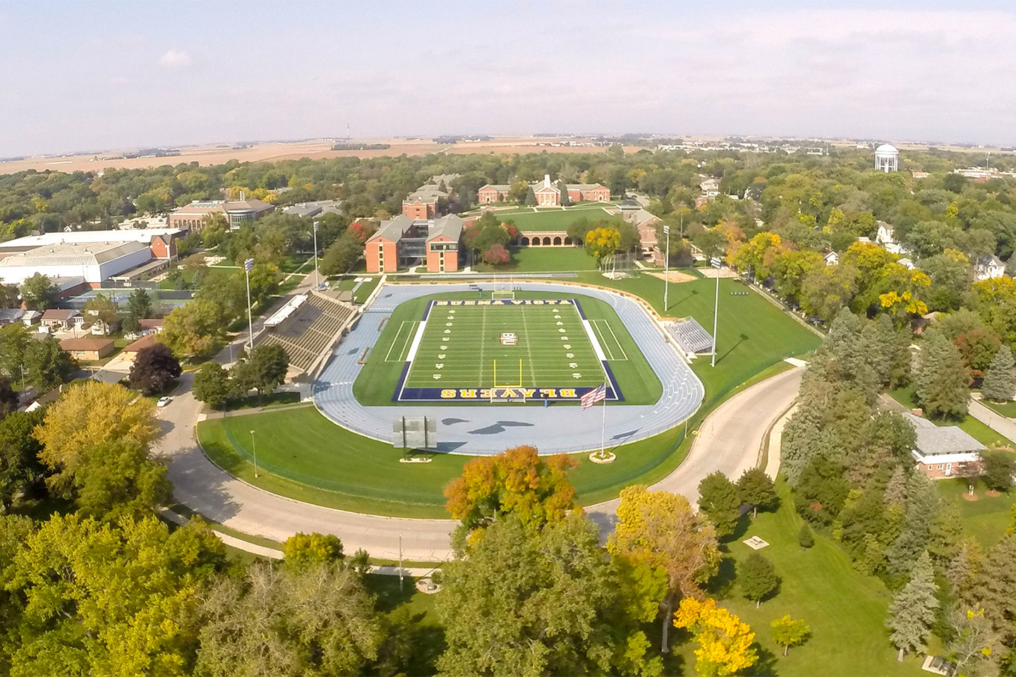 BVU campus from the air