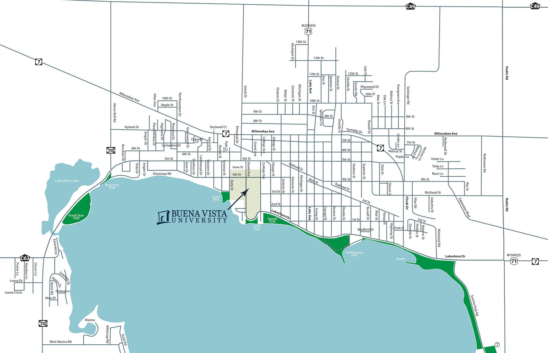 Storm Lake Map   Buena Vista University