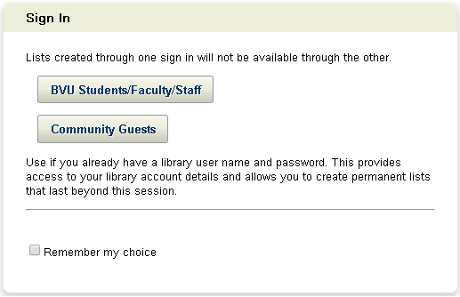 The Interlibrary Loan sign-in screen