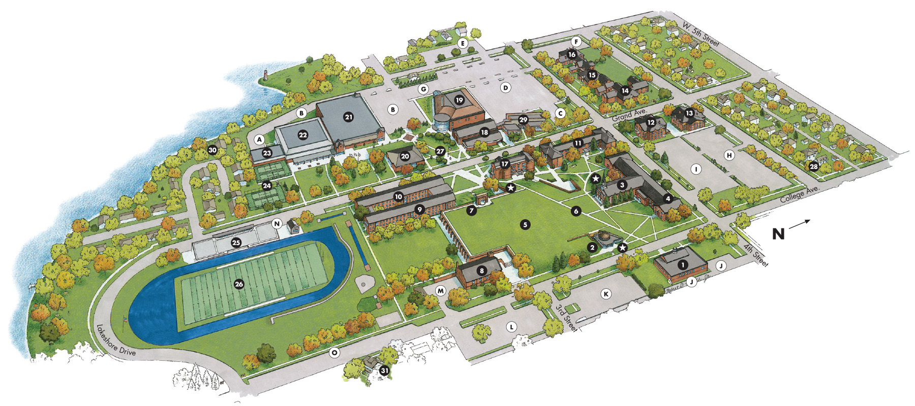 Campus Map Buena Vista University