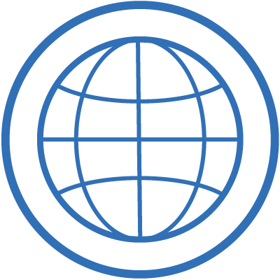 international student icon  globe