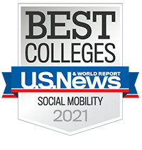 U.S. News & World Report Badge - Social Mobility 2021