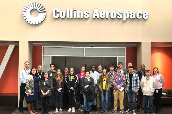STEM students at Collins Aerospace