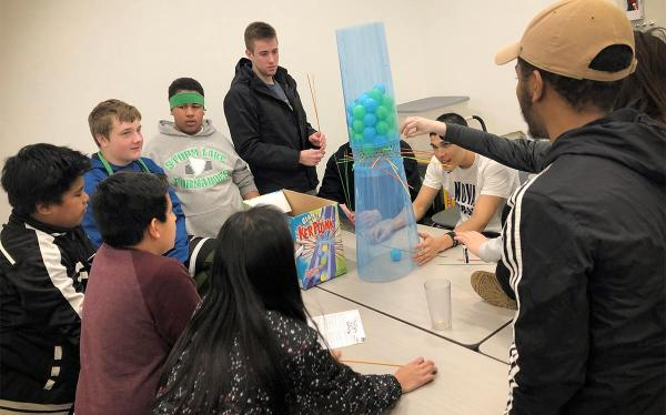 BV Buddies mentoring giant kerplunk games