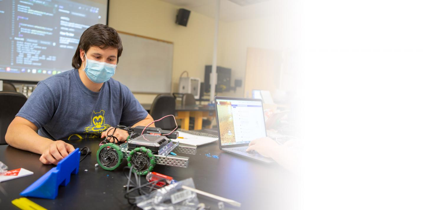 Student builds robot
